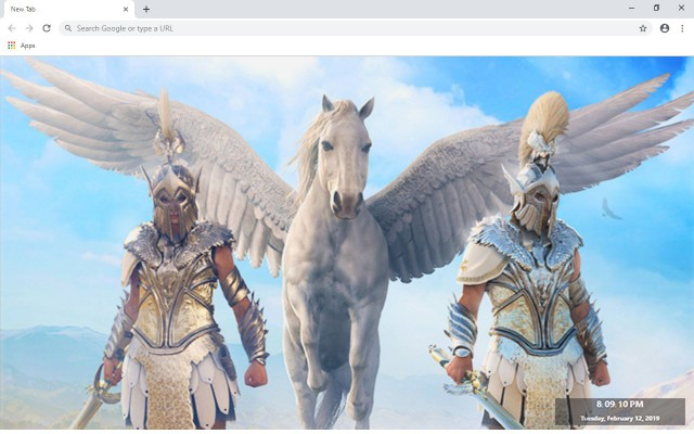 Assassin's Creed Odyssey New Tab Theme
