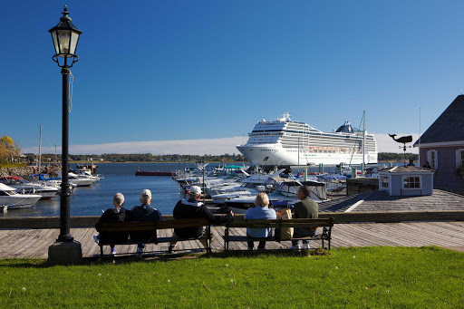 MSC Poesia during a visit to Charlottetown, Prince Edward Island, Canada.