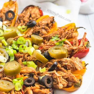 Roasted Mini Pepper BBQ Chicken Bites