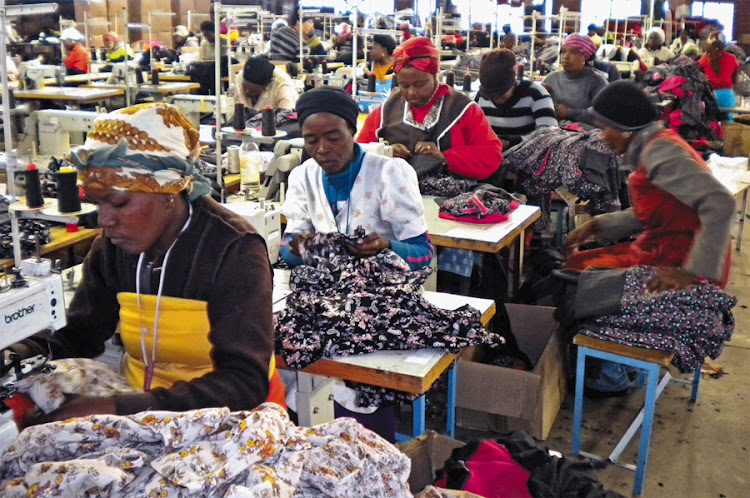 Workers in a clothing factory in Newcastle, KwaZulu-Natal. Picture: FINANCIAL MAIL