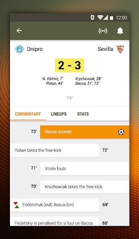 android UEFA Europa League Screenshot 3