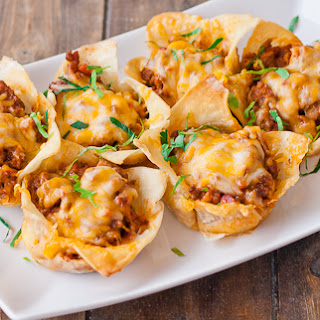 Mini Lasagna Cups.