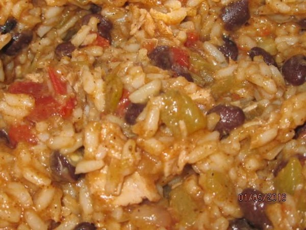 Combine rice and meat mixture in 3 quart saucepan.  If dry, add a...