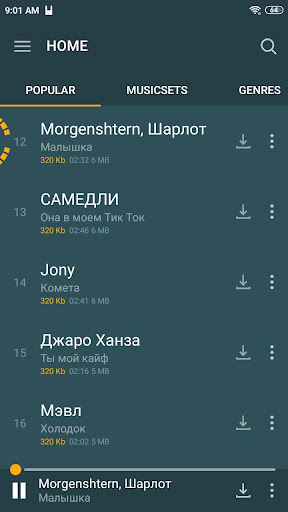 Zaycev.Net - music and songs in mp3 no Internet 6.3.11 screenshots 1