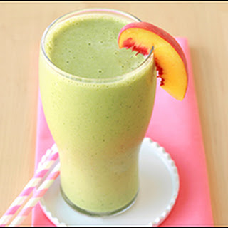 Peaches & Greens Smoothie.