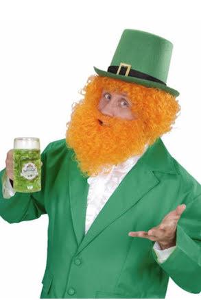 St Patricks Day - Peruk med skägg