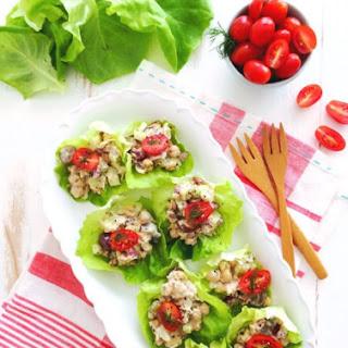 Chickpea Salad Lettuce Cups.