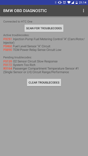 OBD DIAGNOSTIC FOR BMW CARS Screenshot