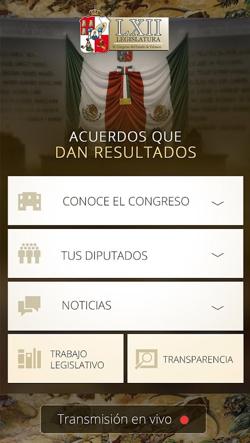 Congreso de Estado de Tabasco- screenshot
