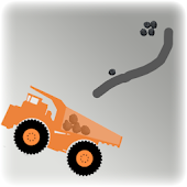 Brain Rocks - mining truck - draw physics puzzle