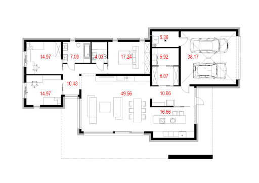 House 11.1 - Rzut parteru