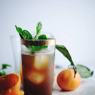 Citrus Pomegranate Mint Tea.