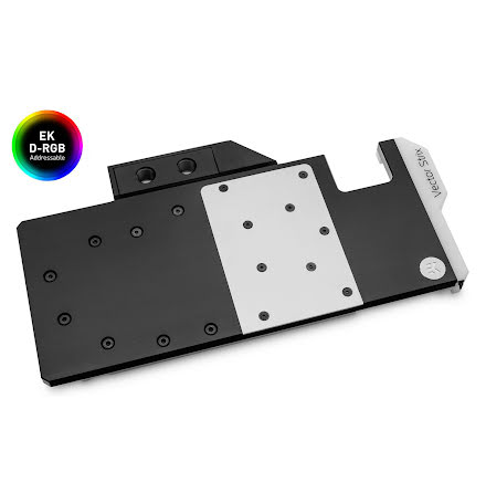 EK vannblokk for skjermkort, EK-Quantum Vector Strix RX 5700 +XT D-RGB - Nickel + Acetal