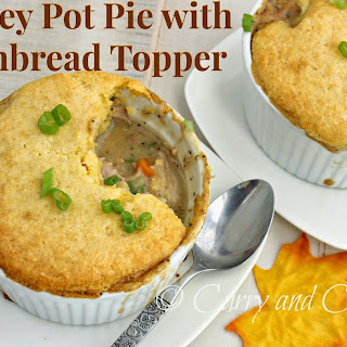 Turkey Pot Pie with Cornbread Topping