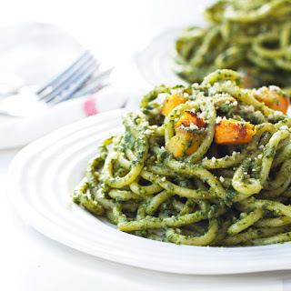 Vegan Pumpkin Pesto Pasta