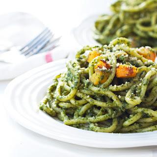 Vegan Pumpkin Pesto Pasta.