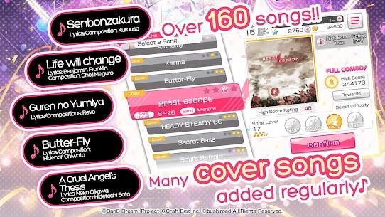 BanG Dream! Girls Band Party! Mod Apk 4.5.0 (Menu Mod + God Mode) 4
