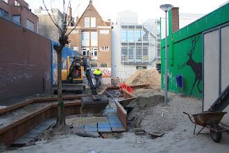 Photo: De aanleg van de nieuwe speeltuin