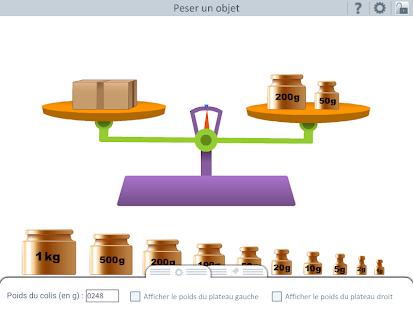 outils pour l 39 cole peser des objets android apps on google play. Black Bedroom Furniture Sets. Home Design Ideas