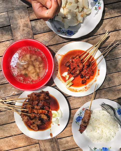 Sate Plecing and Soto Babi