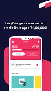 LazyPay – Instant Personal Loan Online & Pay Later Screenshot