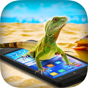 Lizard in Phone Prank Icon