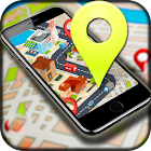 Offline GPS Route Finder Maps Live Street View 3D icon