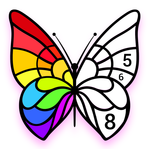 Color by Number, Paint Art - Star Coloring Pages Icon