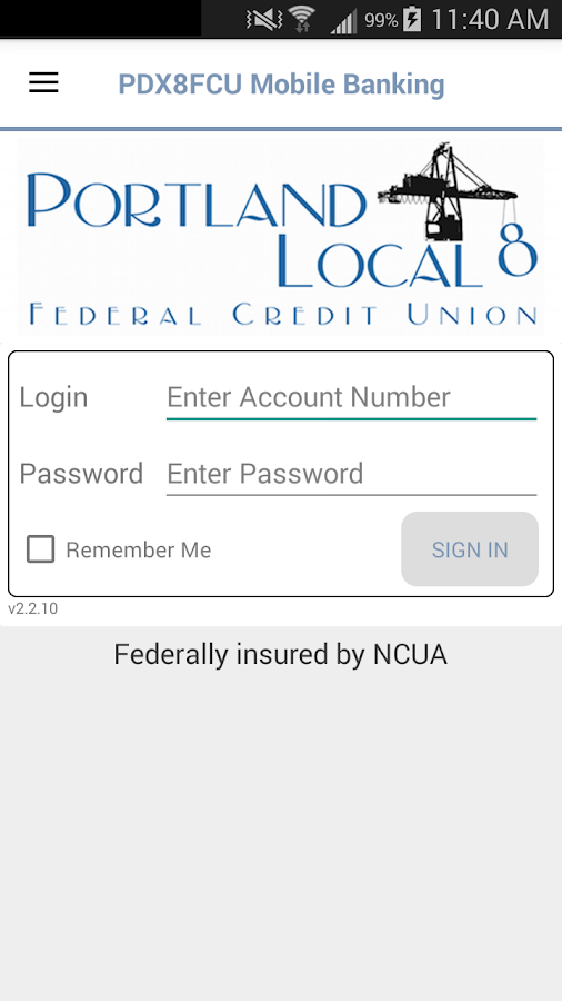 PDX8FCU Mobile Banking- screenshot