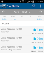 ClockShark - Time Clock App- screenshot thumbnail