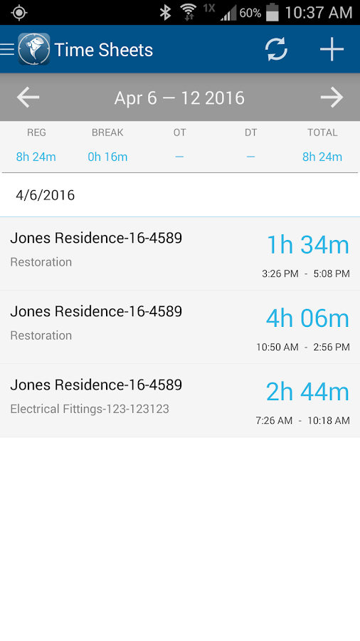 ClockShark - Time Clock App- screenshot