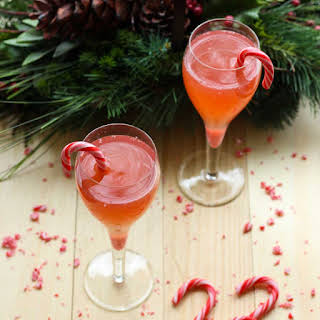 Sparkling Candy Cane Mimosa.