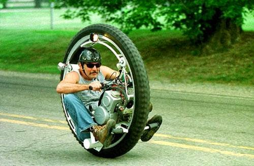 A menos que la rueda sea así de genial