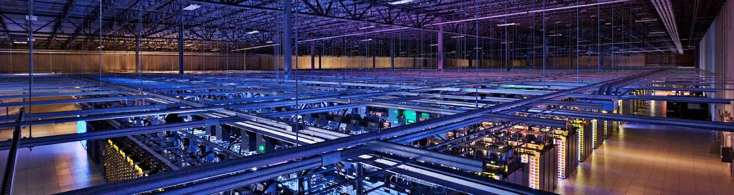 Google servers, seen from the ceiling
