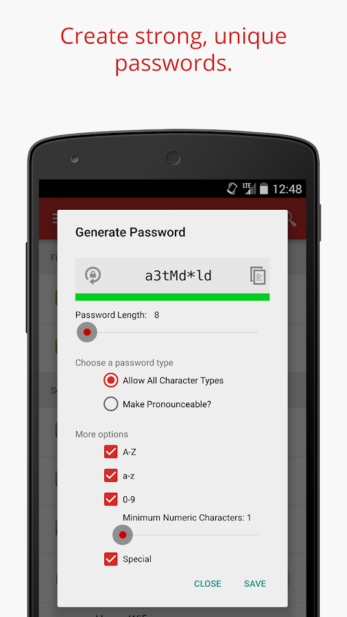 LastPass Password Manager Beta (Unreleased)- screenshot