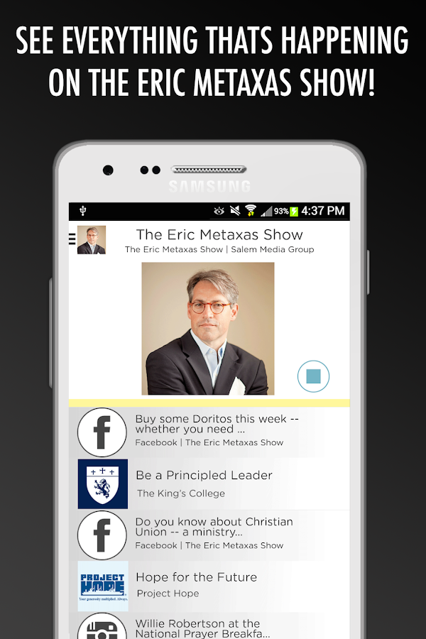 The Eric Metaxas Show- screenshot
