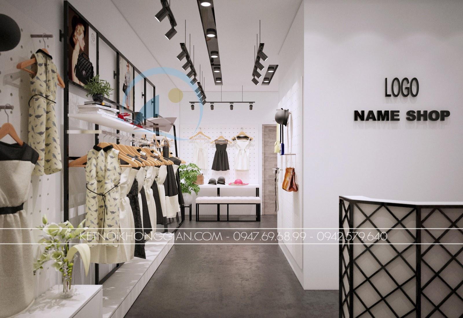 thiết kế shop thời trang giá rẻ trẻ trung