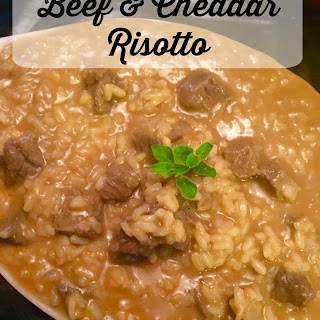 Beef and Cheddar Risotto #Sunday Supper
