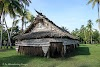 Papua. New Guinea East Sepik River Clans Crocodile Traditions. Spirit House on the East Sepik River