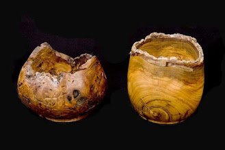 "Photo: Art Mensch 5.5""x5"" vessels [weeping cherry and elm]"