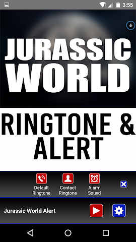 android Jurassic World Ringtone Alert Screenshot 1