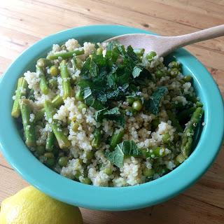 Lemony Quinoa Salad with Asparagus, Peas and Fresh Mint Recipe