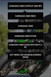 Engine sounds of Kawasaki Z800 screenshot 0