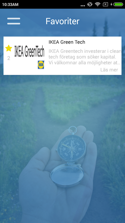 Swedish Innovation Compass- screenshot