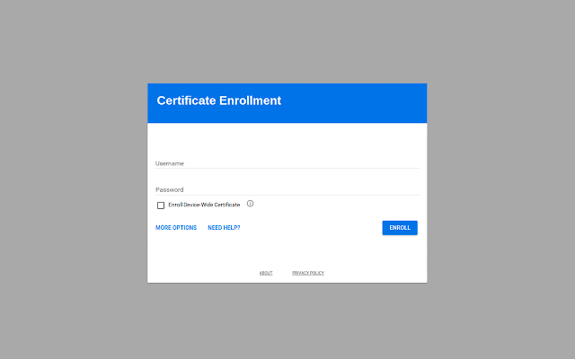 Certificate Enrollment for Chrome OS