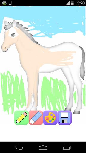 馬の着色ゲーム