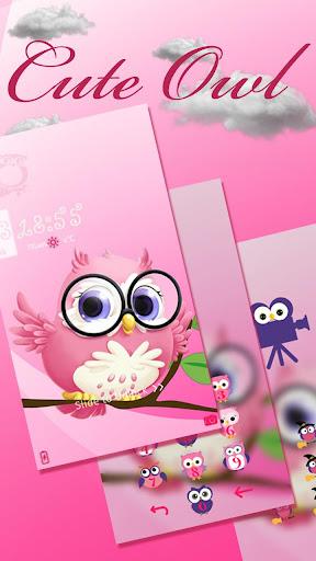 Pink anime cute owl theme 1.1.4 screenshots 1