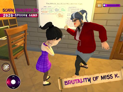 Scary Evil Teacher Game Creepy Spooky Game apktram screenshots 8