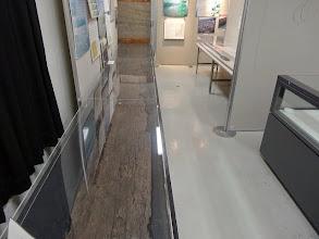 写真: 島大キャンパス出土の丸木舟状板製品