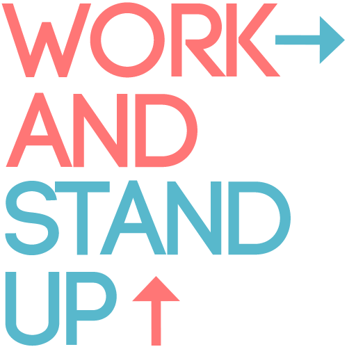 Work and Stand UP Icon